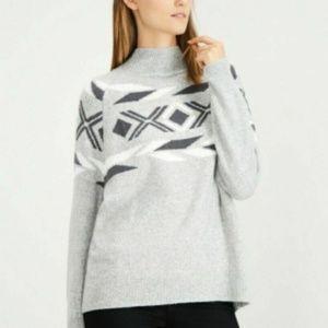 Calvin Klein Sweater Pullover Mock Neck Sz L